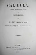 Alexandre Dumas, Caligula