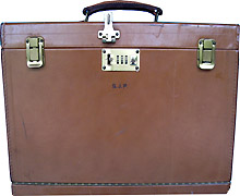 S.J. Perelman's Original Personal Traveling Leather Briefcase and Writing Desk
