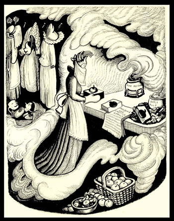 Illustration Originale, The Poisoned Apple de Wanda Gag