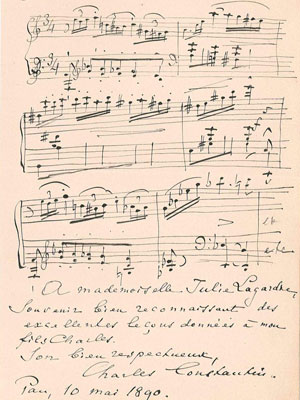 Manuscrit musical sign�